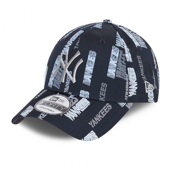 New York Yankees Script Navy 9FORTY Cap