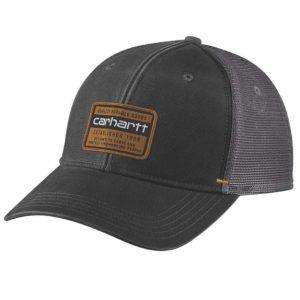 Carhartt-SILVERMINE-CAP-black-front